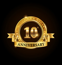 10 years anniversary celebration logotype vector