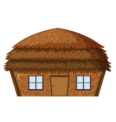 a house on white background vector image