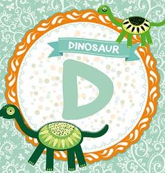 ABC animals D is dinosaur Childrens english vector image