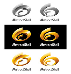 abstract spriral shell logos and icons vector image