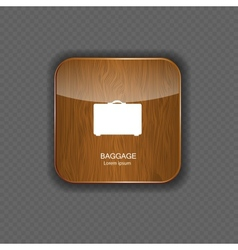 baggage wood application icons vector image