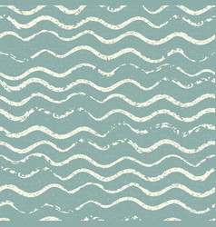 Beautiful seamless pattern with wavy brush strokes vector