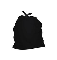 black garbage bag vector image