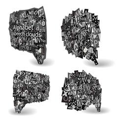 Black talk bubbles vector image vector image