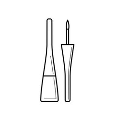Bottle with liquid eyeliner and brush vector