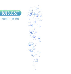 Bubbles under water on white vector