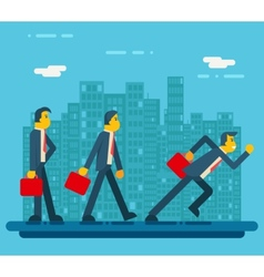 Businessman characters standing walking running vector