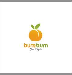 Butt fresh juice logo design template vector