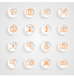 Camera icons and menu Camera icons Icons button sh vector