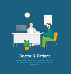 cartoon doctor and patient characters people in vector image