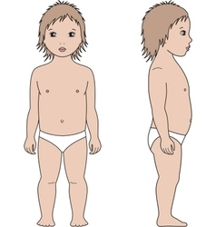 Child figure Front and side vector image