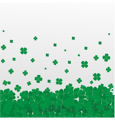 clover leaf realistic white background vector image