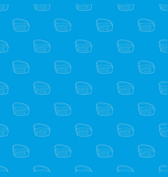 cookie box pattern seamless blue vector image