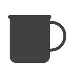 cup of tea coffee icon vector image