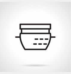 dishes for casserole simple line icon vector image