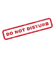 Do Not Disturb Text Rubber Stamp vector
