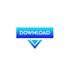 download button modern icon with arrow vector image