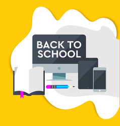 e-learning design online education concept with vector image
