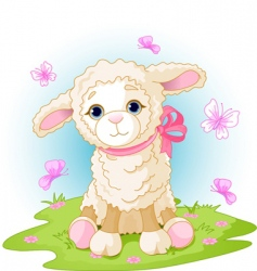 Easter lamb vector image