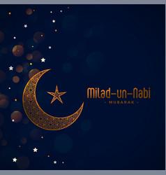 Eid milad un nabi barawafat festival card design vector