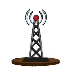 electronic signal antenna vector image