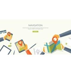 Flat header Navigation and vector image