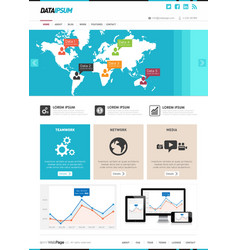Front page web design template vector