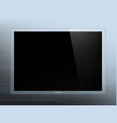 futuristic glass tablet device with a black screen vector image