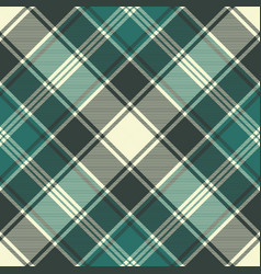 Green plaid fabric texture seamless pattern vector