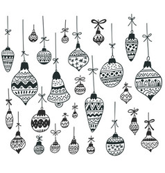 Handdrawn christmas decoration vector