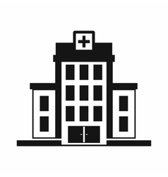 Hospital icon simple style vector image vector image
