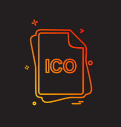Ico file type icon design vector