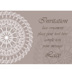 Invitation card with delicate ornaments vector image