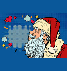 kiss love santa claus character christmas and vector image