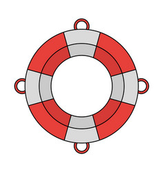lifesaver boat symbol vector image