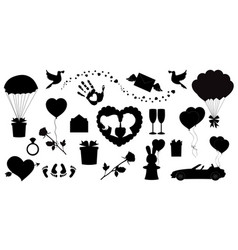 love icons set of 20 editable filled valentines vector image