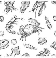 Marine healthy seafood vector