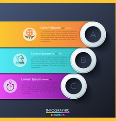 modern infographic design template with 3 vector image
