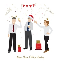 Office party flat style vector