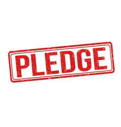 Pledge grunge rubber stamp vector