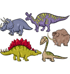 prehistoric set cartoon vector image