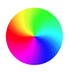 Rgb color wheel round classic palette vector