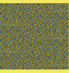 Seamless golden motley knitting background vector