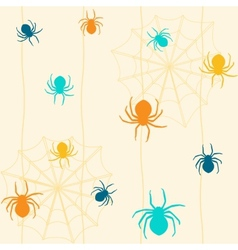Seamless pattern with spiders vector image