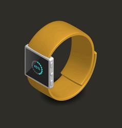 Smart watch in 3d vector