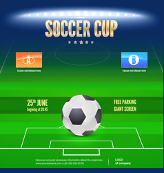 Soccer event flyer template place your text and vector