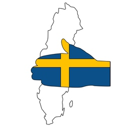 Swedish handshake vector image