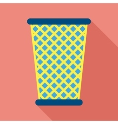 Trash Bin in Flat Style vector image