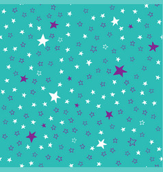turquoise seamless pattern with stars vector image