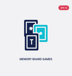 Two color memory board games icon from vector
